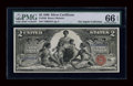 Large Size:Silver Certificates, Fr. 248 $2 1896 Silver Certificate PMG Gem Uncirculated 66 EPQ....