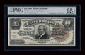 Large Size:Silver Certificates, Fr. 296 $10 1886 Silver Certificate PMG Gem Uncirculated 65 EPQ....