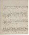 Autographs:Military Figures, [Benedict Arnold] Captain Benjamin Gould Autograph Manuscript (Unsigned) about Benedict Arnold's Command of West Point and the...