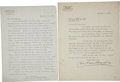Autographs:Inventors, Hudson Maxim Two Typed Letters Signed. ... (Total: 2 Items)
