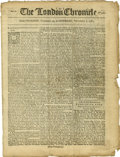 Books:Periodicals, [Revolutionary War Newspaper] The London Chronicle....