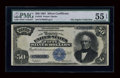 Large Size:Silver Certificates, Fr. 335 $50 1891 Silver Certificate PMG About Uncirculated 55EPQ....