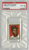 Baseball Cards:Singles (1960-1969), 1962 Topps Stamps Roberto Clemente PSA NM-MT 8....