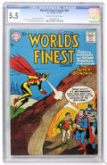 Silver Age (1956-1969):Superhero, World's Finest Comics #90 (DC, 1957) CGC FN- 5.5 Off-white to white pages....