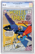 Silver Age (1956-1969):Superhero, World's Finest Comics #93 (DC, 1958) CGC VF 8.0 Off-white to white pages....