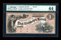 Obsoletes By State:Vermont, Orwell, VT- The Farmers Bank $1 G10a Proof. ...