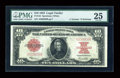 Large Size:Legal Tender Notes, Fr. 123 $10 1923 Legal Tender PMG Very Fine 25....