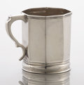 Silver Holloware, American:Cups, AN AMERICAN COIN SILVER MUG. Unidentified maker, circa 1850. Marks:effaced marks. 3-1/2 x 4 x 2-7/8 inches (8.9 x 10.2 x 7....