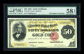 Large Size:Gold Certificates, Fr. 1193 $50 1882 Gold Certificate PMG Choice About Unc 58 EPQ....