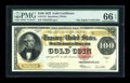 Large Size:Gold Certificates, Fr. 1215 $100 1922 Gold Certificate PMG Gem Uncirculated 66 EPQ....