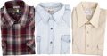 Movie/TV Memorabilia:Costumes, Glenn Ford Owned Western Shirts.... (Total: 3 Items)