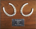 Movie/TV Memorabilia:Awards, Glenn Ford's Horseshoes from Henry Fonda....