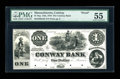Obsoletes By State:Massachusetts, Conway, MA- Conway Bank $1 Sept. 12, 1854 UNL Proof. ...