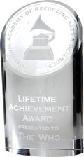 Music Memorabilia:Awards, The Who Lifetime Achievement Grammy Award....