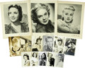 Movie/TV Memorabilia:Autographs and Signed Items, Betty Grable and Others Vintage Celebrity Publicity Photos....(Total: 12 Items)