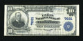 National Bank Notes:West Virginia, Clarksburg, WV - $10 1902 Plain Back Fr. 624 The Union NB Ch. #7681. ...