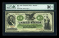 Large Size:Demand Notes, Fr. 8 $10 1861 Demand Note PMG Very Fine 30 Net....