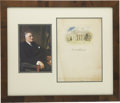 Autographs:U.S. Presidents, Franklin D. Roosevelt: Signed Limitation Page from TheDemocratic Book.. -No date [1936]. . -Some age toning andfox...