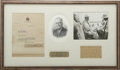 "Autographs:U.S. Presidents, Franklin D. Roosevelt: Typed Letter Signed as New York Governor..-April 28, 1932. Albany, New York. One page. 8"" x 10.5"". S..."