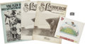 Autographs:Celebrities, [Charles Lindbergh] Archive.... (Total: 9 Items)