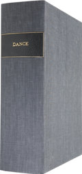 Books:First Editions, Large Solander Case Labeled Dance For the Storage ofPrints....