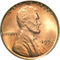 Lincoln Cents, 1952 1C MS67 Red PCGS....