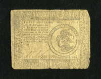 Continental Currency February 26, 1777 $3 Very Good. This is a well worn, yet intact Continental