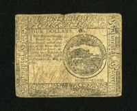Continental Currency May 9, 1776 $4 Fine. A small split is at top center