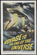 "Movie Posters:Science Fiction, Voyage to the End of the Universe (American International, 1964).One Sheet (27"" X 41""). Science Fiction. Starring Zdenek St..."
