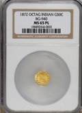 California Fractional Gold: , 1872 50C Indian Octagonal 50 Cents, BG-940, R.4, MS65 ProoflikeNGC. This is a relatively common variety, yet it is an amaz...
