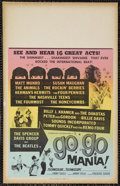 """Movie Posters:Rock and Roll, Go Go Mania (American International, 1965). Window Card (14"""" X 22""""). Rock and Roll. Starring The Beatles, Spencer Davis Grou..."""