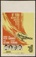 "Movie Posters:Science Fiction, On the Beach (United Artists, 1959). Window Card (14"" X 22"").Science Fiction. Starring Gregory Peck, Ava Gardner, Fred Asta..."