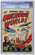 Golden Age (1938-1955):Science Fiction, Journey Into Unknown Worlds #36 (#1) (Atlas, 1950) CGC FN- 5.5Off-white to white pages....