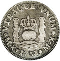Mexico: , Mexico: Philip V Half Real 1733 MX-MF, KM65, Fine 15 ICG. Even wearwith minor abrasions. A very scarce issue....