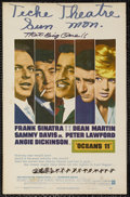 "Movie Posters:Crime, Ocean's 11 (Warner Brothers, 1960). Window Card (14"" X 22""). Crime.Starring Frank Sinatra, Dean Martin, Sammy Davis Jr., Pe..."