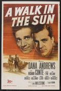 "Movie Posters:War, A Walk in the Sun (20th Century Fox, 1946). One Sheet (27"" X 41"").War. Starring Dana Andrews, Richard Conte, George Tyne an..."