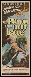 "Movie Posters:Science Fiction, Phantom From 10,000 Leagues (American Releasing Corp., 1955).Insert (14"" X 36""). Science Fiction. Starring Kent Taylor, Cat..."