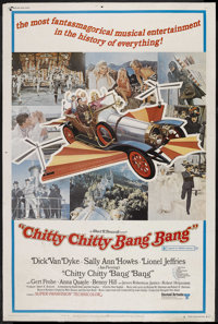 "Chitty Chitty Bang Bang (United Artists, 1968). Poster (40"" X 60"") Style B. Musical Comedy. Starring Dick Van..."