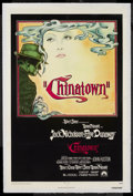 "Movie Posters:Mystery, Chinatown (Paramount, 1974). One Sheet (27"" X 41""). Film Noir.Starring Jack Nicholson, Faye Dunaway, John Huston, Perry Lop..."