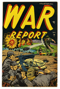 "War Report #1 Davis Crippen (""D"" Copy) pedigree (Ajax/Farrell, 1952) Condition: FN/VF"