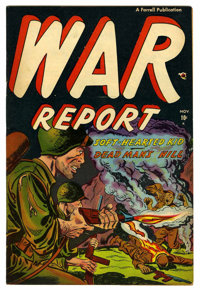 "War Report #2 Davis Crippen (""D"" Copy) pedigree (Ajax/Farrell, 1952) Condition: FN/VF"
