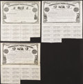 Confederate Notes:Group Lots, Ball 22; 23; 24 Cr. 12; 12A; 13 $500; $500; $500 1861 Bonds. TheBall 22 and 23 bonds are known as Indian Princess bond...(Total: 3 items)
