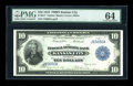 Large Size:Federal Reserve Bank Notes, Fr. 817 $10 1915 Federal Reserve Bank Note PMG Choice Uncirculated 64....