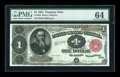 Large Size:Treasury Notes, Fr. 352 $1 1891 Treasury Note PMG Choice Uncirculated 64....