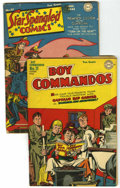 Golden Age (1938-1955):Miscellaneous, DC Golden Age Simon and Kirby Group (DC, 1943-45).... (Total: 2 Comic Books)
