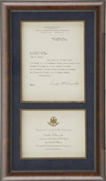 Autographs:U.S. Presidents, Franklin D. Roosevelt: Typed Letter Signed as New YorkGovernor-Elect and Invitation to 1929 GubernatorialInauguration....