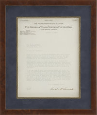 Franklin D. Roosevelt: Typed Letter Signed from Warm Springs with Excellent Content. -October 1, 1927. Warm Spring