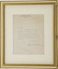 Autographs:U.S. Presidents, Franklin D. Roosevelt: Typed Letter Signed as Assistant Secretaryof the Navy.. -May 26, 1919. Washington, D.C. One page. 6....