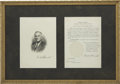 Autographs:U.S. Presidents, Franklin D. Roosevelt: Signed Presidential Appointment and SignedEtching.. -October 23, 1936 (appointment). Washington, D.C...