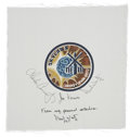 Autographs:Celebrities, Skylab 1 (SL-2) Crew-Signed Beta Cloth Patch from the PersonalCollection of Mission Pilot Paul Weitz....